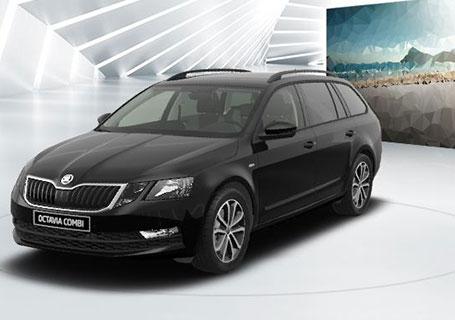 Škoda Octavia teaser in schwarz